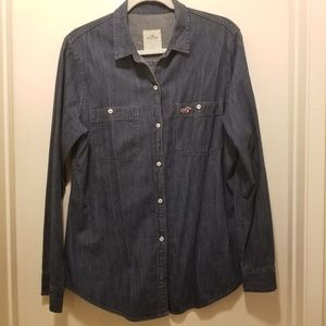 Hollister women's denim shirt button down